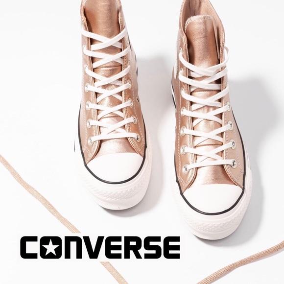 converse rose gold